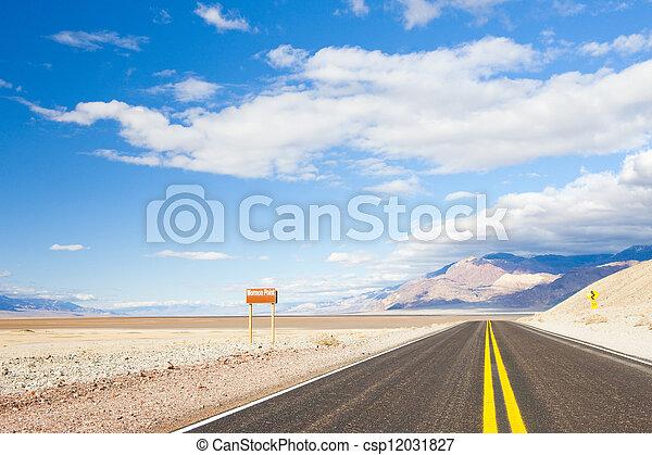 road, Death Valley National Park, California, USA - csp12031827