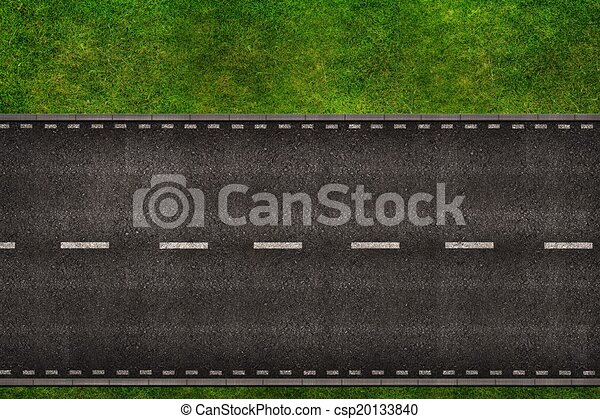 Road From Above Illustration - csp20133840
