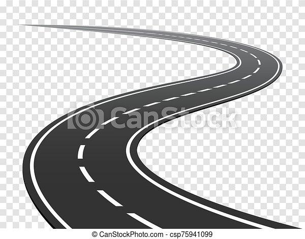 road., handel, podróż, meandrowy, highway., łukowaty - csp75941099