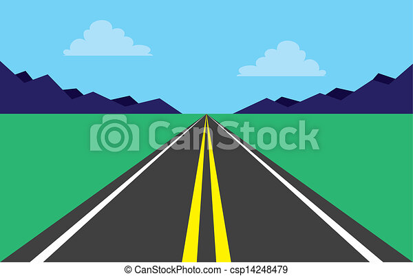 Road highway mountains . Highway perspective road in mountain scene .