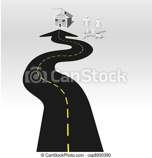 Road Home - csp8930390