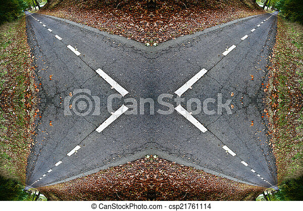 Road in a forest - csp21761114