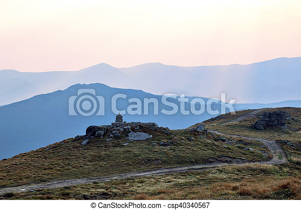 road in a mountain landscape - csp40340567