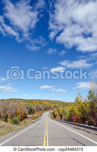 Road in Algonquin Park - csp24464315