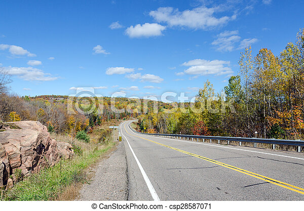 Road in Algonquin Park - csp28587071