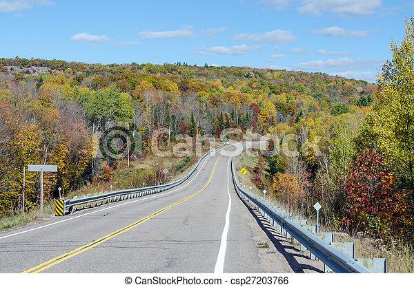 Road in Algonquin Park - csp27203766