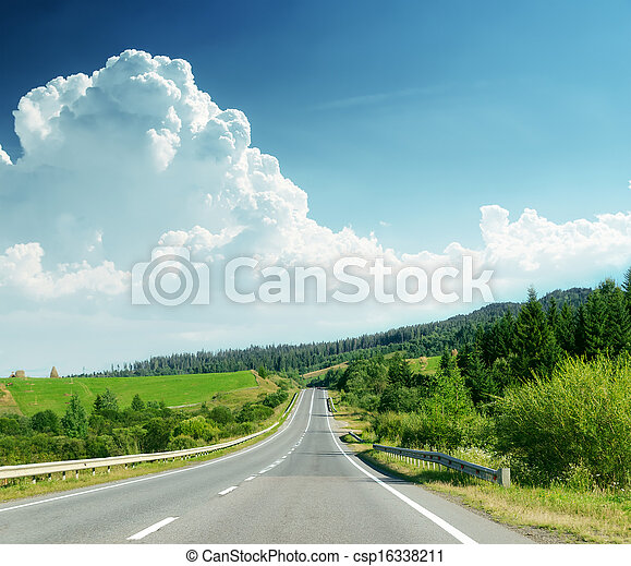 road in mountain - csp16338211