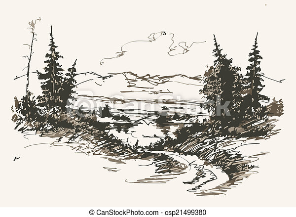 road in mountains - csp21499380