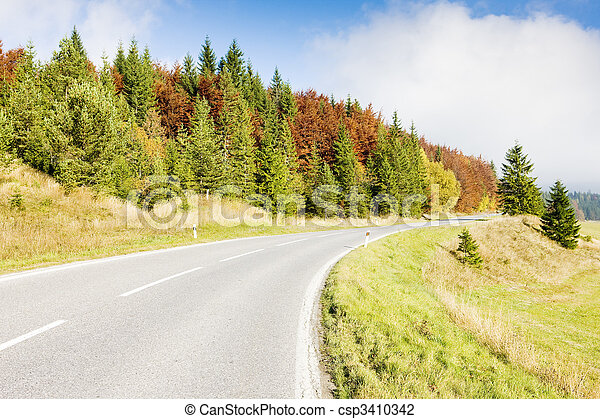 road in Nizke Tatry (Low Tatras), Slovakia - csp3410342