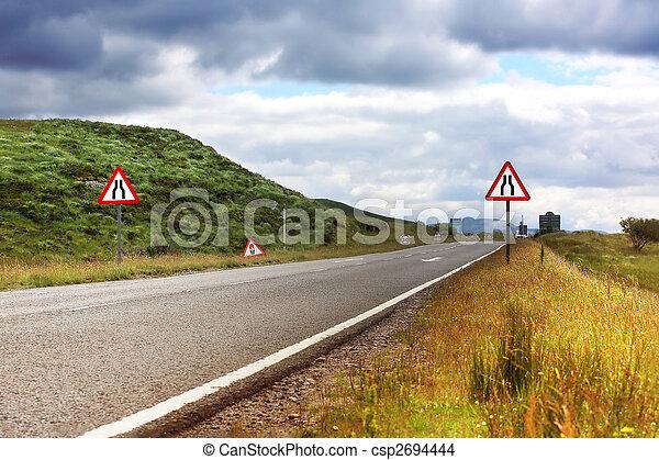 Road in Scotland, summertime - csp2694444
