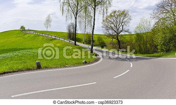 Road in Swiss Alps - csp36923373