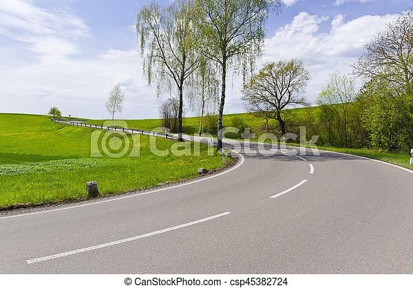 Road in Swiss Alps - csp45382724