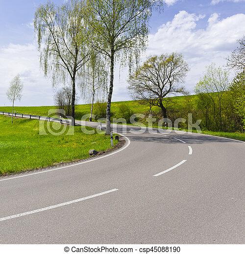 Road in Swiss Alps - csp45088190