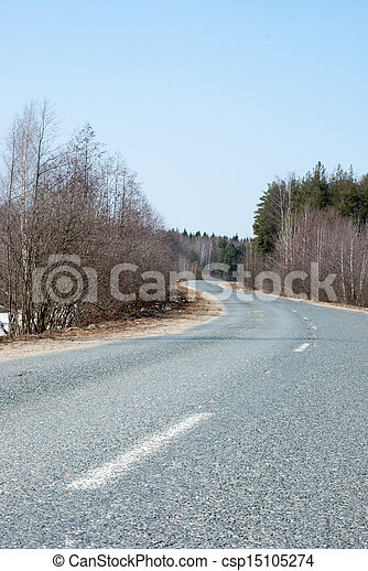 Road in the countryside - csp15105274