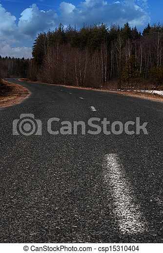 Road in the countryside - csp15310404