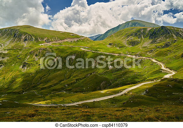 Road in the mountains - csp84110379