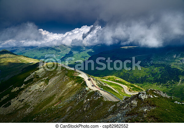Road in the mountains - csp82982552