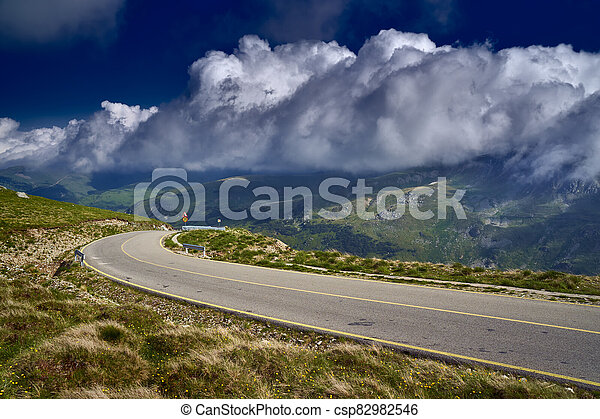 Road in the mountains - csp82982546