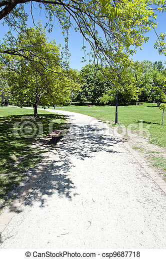 road in the park by summer - csp9687718