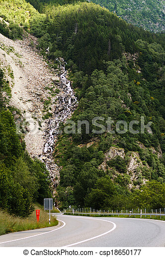 road in the swiss alps - csp18650177