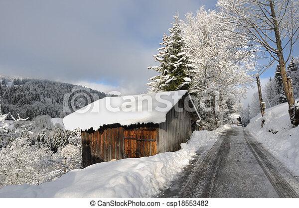 road in winter - csp18553482