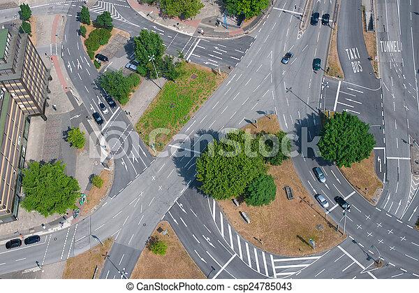 Road junction - csp24785043
