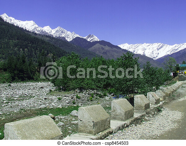 Road leading to a Manali landscape - csp8454503