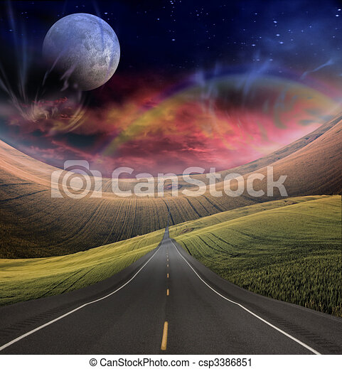 Road leads into distance - csp3386851