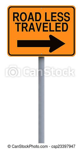Road Less Traveled - csp23397947