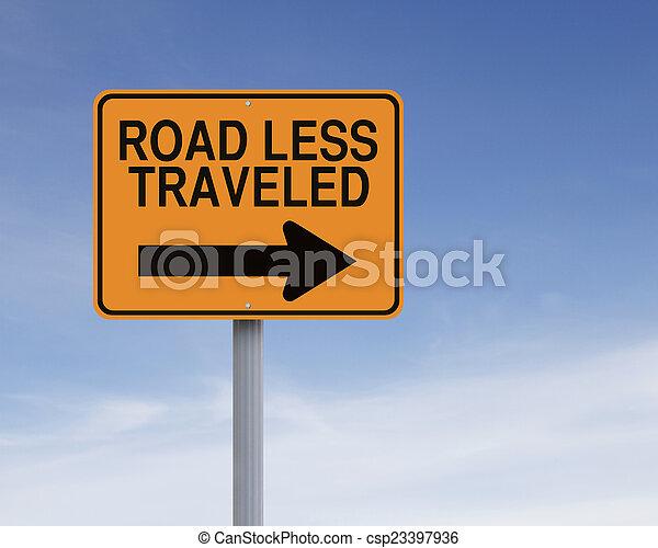 Road Less Traveled - csp23397936