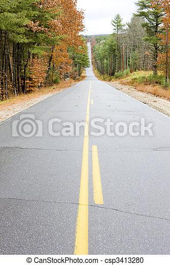 road, Maine, USA - csp3413280