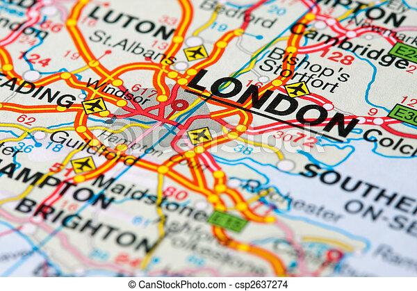 Map Around London.Road Map Around London
