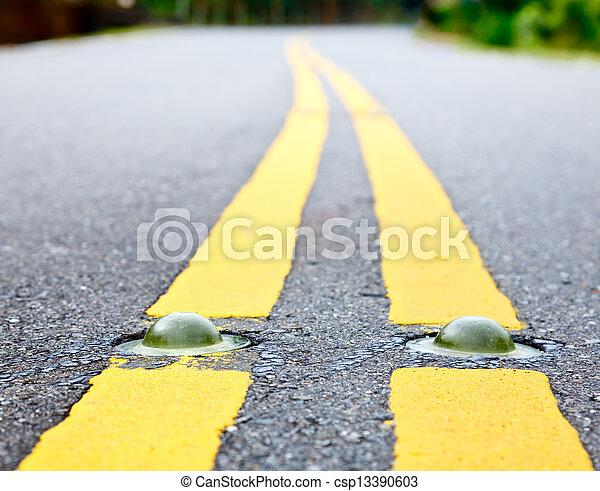Road Marking Cat S Eye Road Marking Close Up