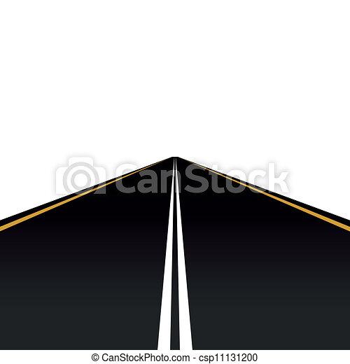 Road markings - csp11131200