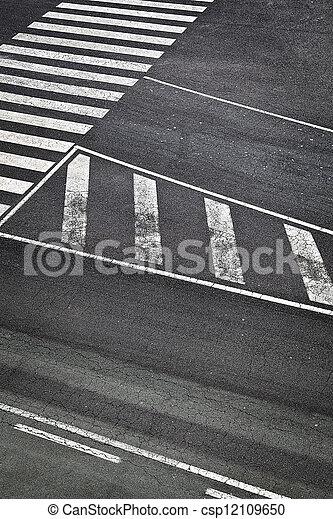 Road Marks in Airport Runway - csp12109650