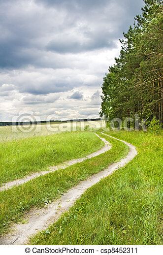 Road near wood - csp8452311