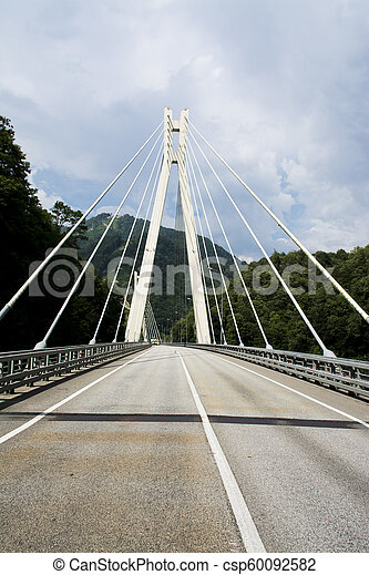 Road on the bridge - csp60092582