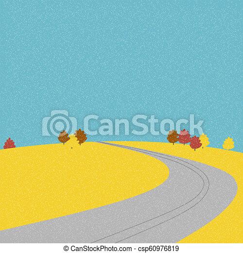 Road on the mountain during autumn - csp60976819
