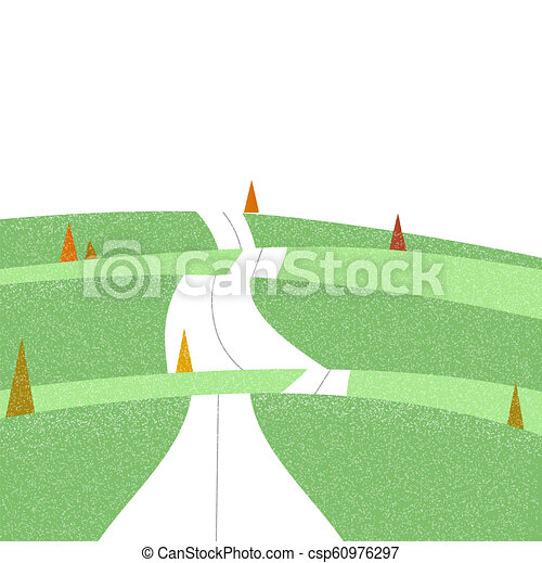 Road on the mountain landscape view - csp60976297