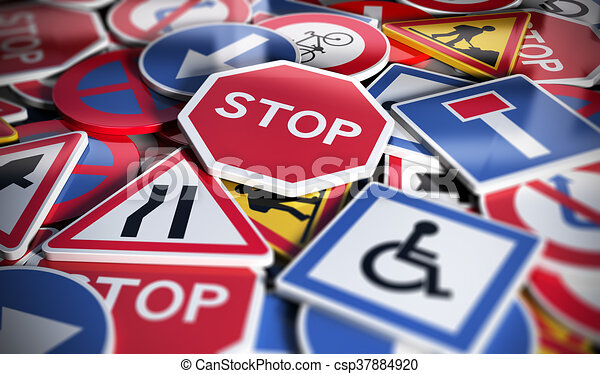 Road or Traffic Signs - csp37884920