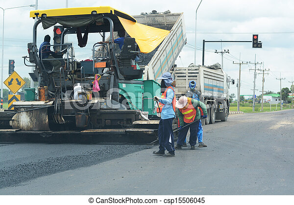 Road paving construction - csp15506045