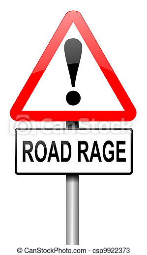Road rage concept. - csp9922373