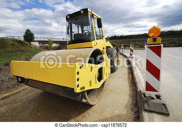 Road roller - csp11876572
