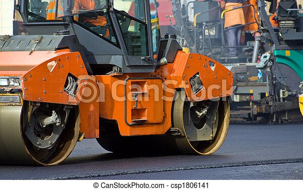 Road roller - csp1806141