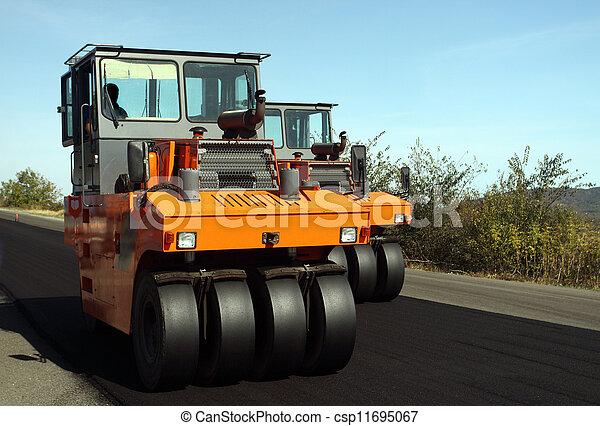 Road roller - csp11695067