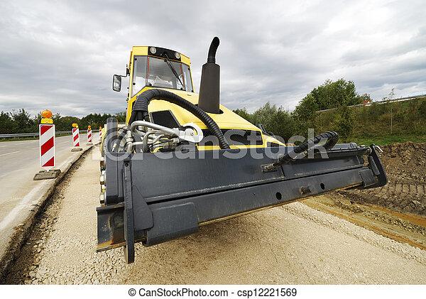 Road roller - csp12221569