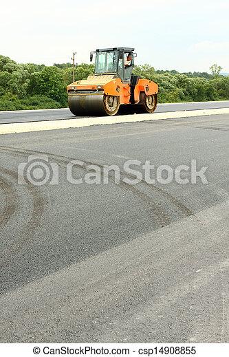 Road roller - csp14908855