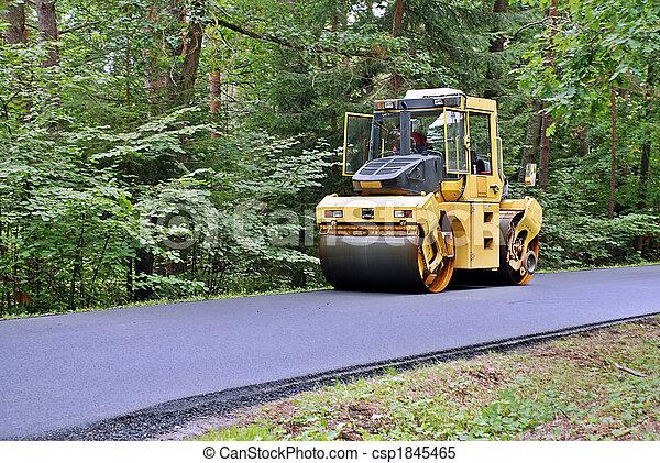 Road roller - csp1845465