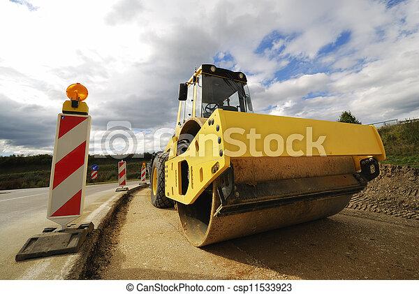 Road roller - csp11533923