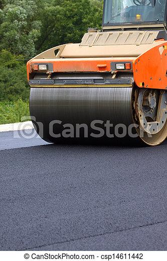 Road roller - csp14611442